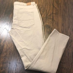 FOREVER 21 Stretch Ankle Pants Tan